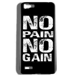 Vivo V1 Mobile Covers Cases No Pain No Gain Black And White - Lowest Price - Paybydaddy.com