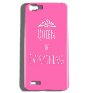 Vivo V1 Mobile Covers Cases Queen Of Everything Pink White - Lowest Price - Paybydaddy.com