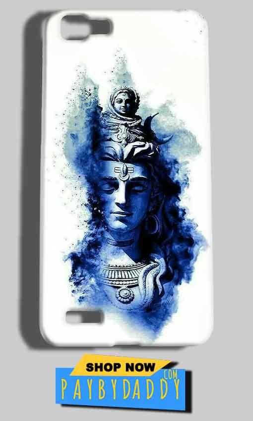 Vivo V1 Mobile Covers Cases Shiva Blue White - Lowest Price - Paybydaddy.com