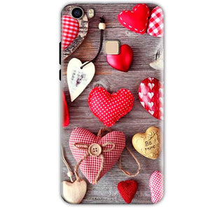 Vivo V3 Mobile Covers Cases Hearts- Lowest Price - Paybydaddy.com