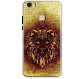Vivo V3 Mobile Covers Cases Lion face art - Lowest Price - Paybydaddy.com