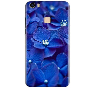 Vivo V3 Max Mobile Covers Cases Blue flower - Lowest Price - Paybydaddy.com
