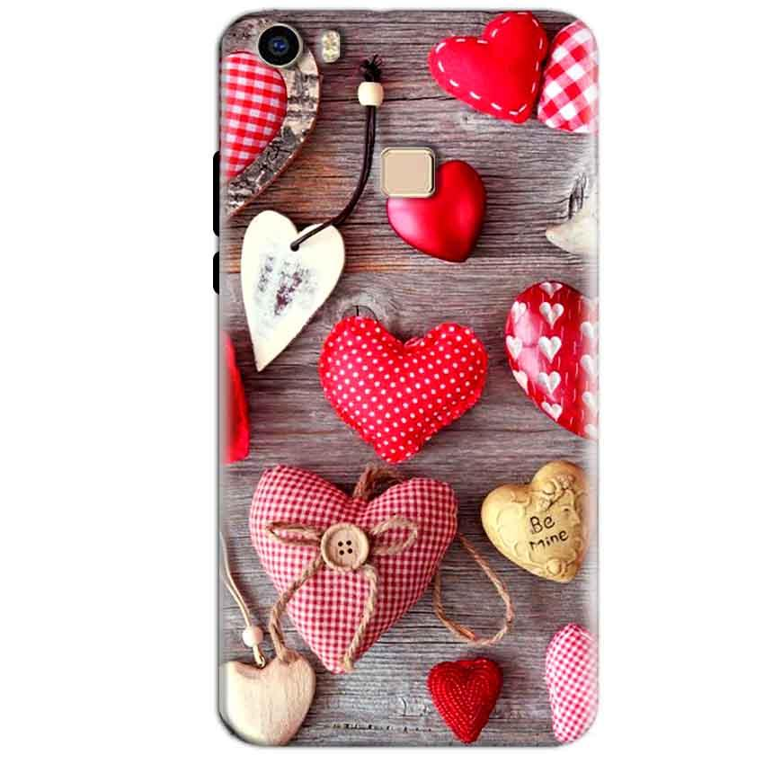 Vivo V3 Max Mobile Covers Cases Hearts- Lowest Price - Paybydaddy.com