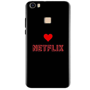 Vivo V3 Max Mobile Covers Cases NETFLIX WITH HEART - Lowest Price - Paybydaddy.com