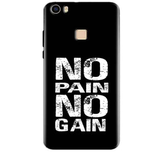 Vivo V3 Max Mobile Covers Cases No Pain No Gain Black And White - Lowest Price - Paybydaddy.com