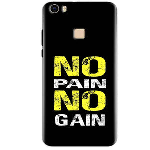Vivo V3 Max Mobile Covers Cases No Pain No Gain Yellow Black - Lowest Price - Paybydaddy.com