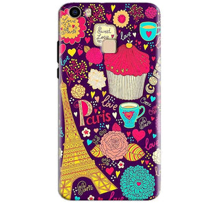 Vivo V3 Max Mobile Covers Cases Paris Sweet love - Lowest Price - Paybydaddy.com