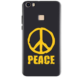 Vivo V3 Max Mobile Covers Cases Peace Blue Yellow - Lowest Price - Paybydaddy.com