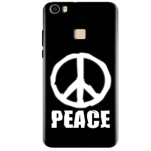 Vivo V3 Max Mobile Covers Cases Peace Sign In White - Lowest Price - Paybydaddy.com
