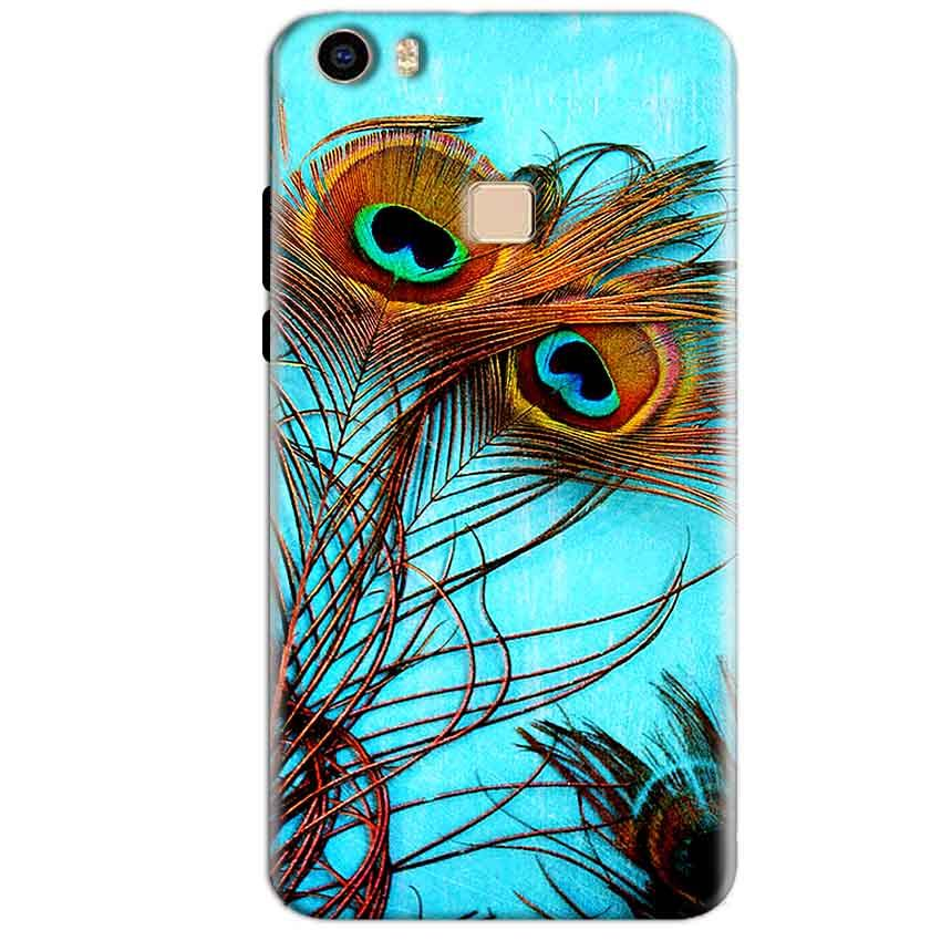 Vivo V3 Max Mobile Covers Cases Peacock blue wings - Lowest Price - Paybydaddy.com