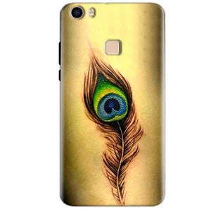 Vivo V3 Max Mobile Covers Cases Peacock coloured art - Lowest Price - Paybydaddy.com