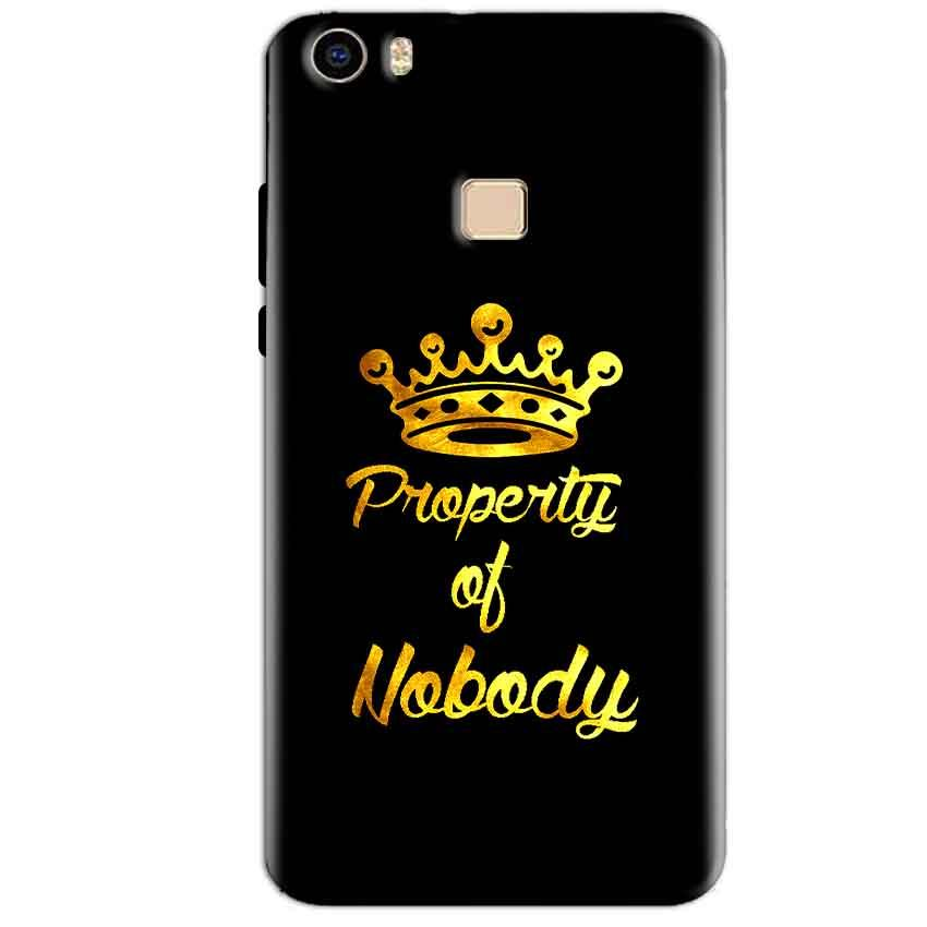 Vivo V3 Max Mobile Covers Cases Property of nobody with Crown - Lowest Price - Paybydaddy.com