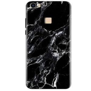 Vivo V3 Max Mobile Covers Cases Pure Black Marble Texture - Lowest Price - Paybydaddy.com