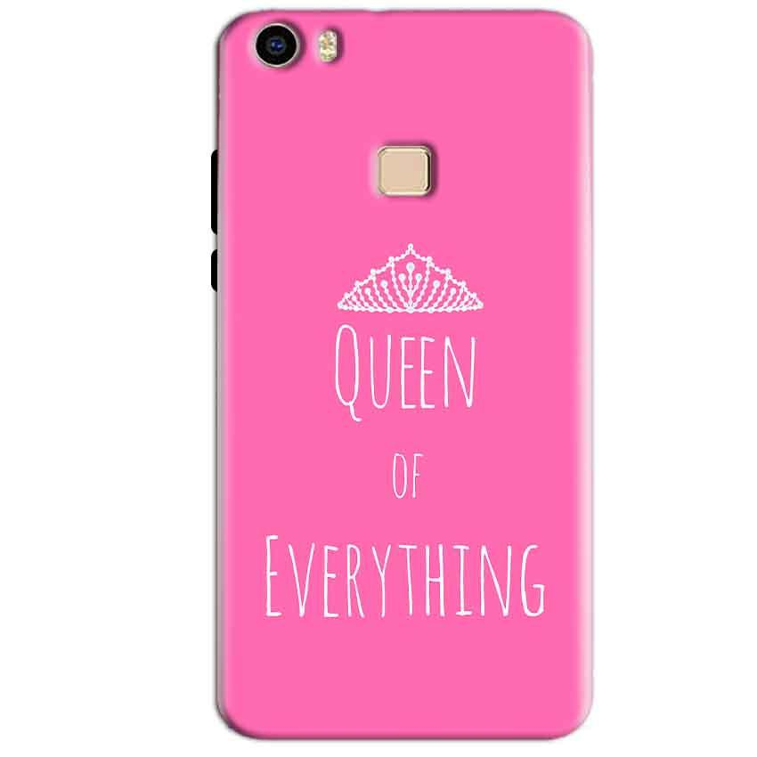 Vivo V3 Max Mobile Covers Cases Queen Of Everything Pink White - Lowest Price - Paybydaddy.com
