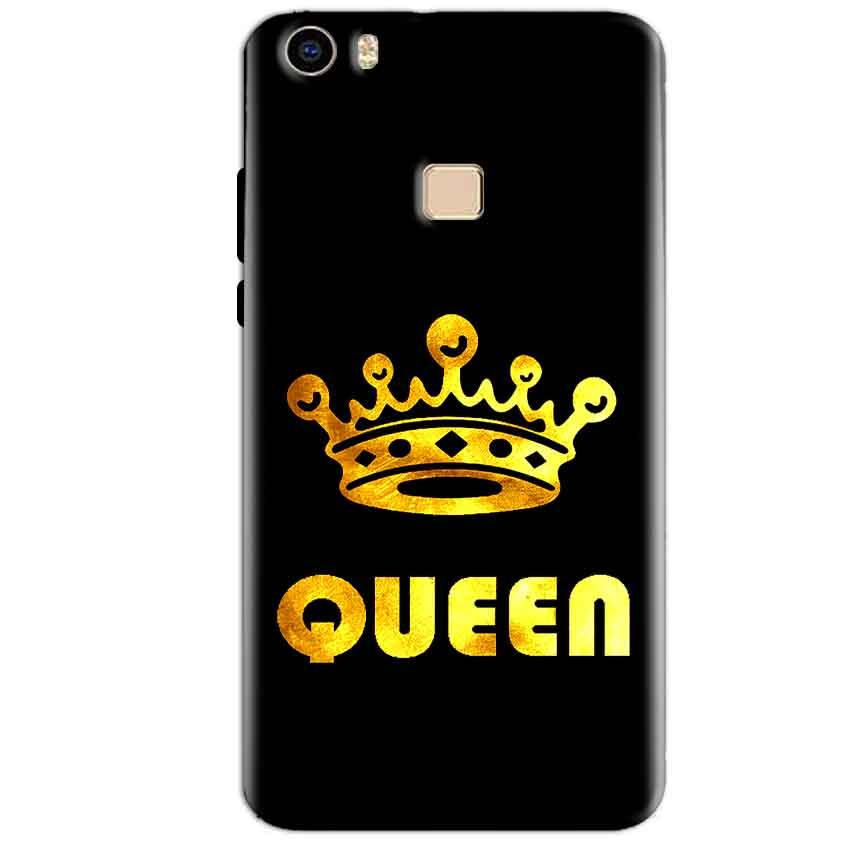 Vivo V3 Max Mobile Covers Cases Queen With Crown in gold - Lowest Price - Paybydaddy.com