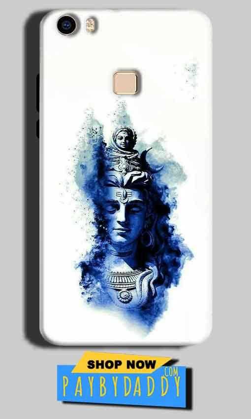 Vivo V3 Max Mobile Covers Cases Shiva Blue White - Lowest Price - Paybydaddy.com