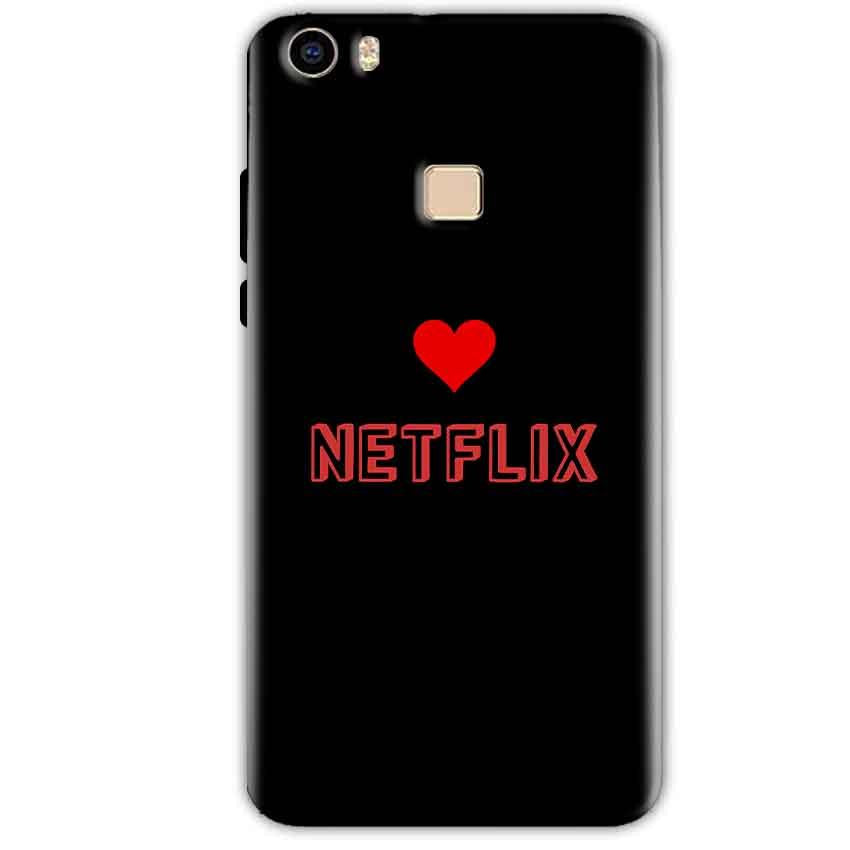 Vivo V3 Mobile Covers Cases NETFLIX WITH HEART - Lowest Price - Paybydaddy.com