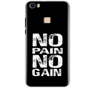 Vivo V3 Mobile Covers Cases No Pain No Gain Black And White - Lowest Price - Paybydaddy.com