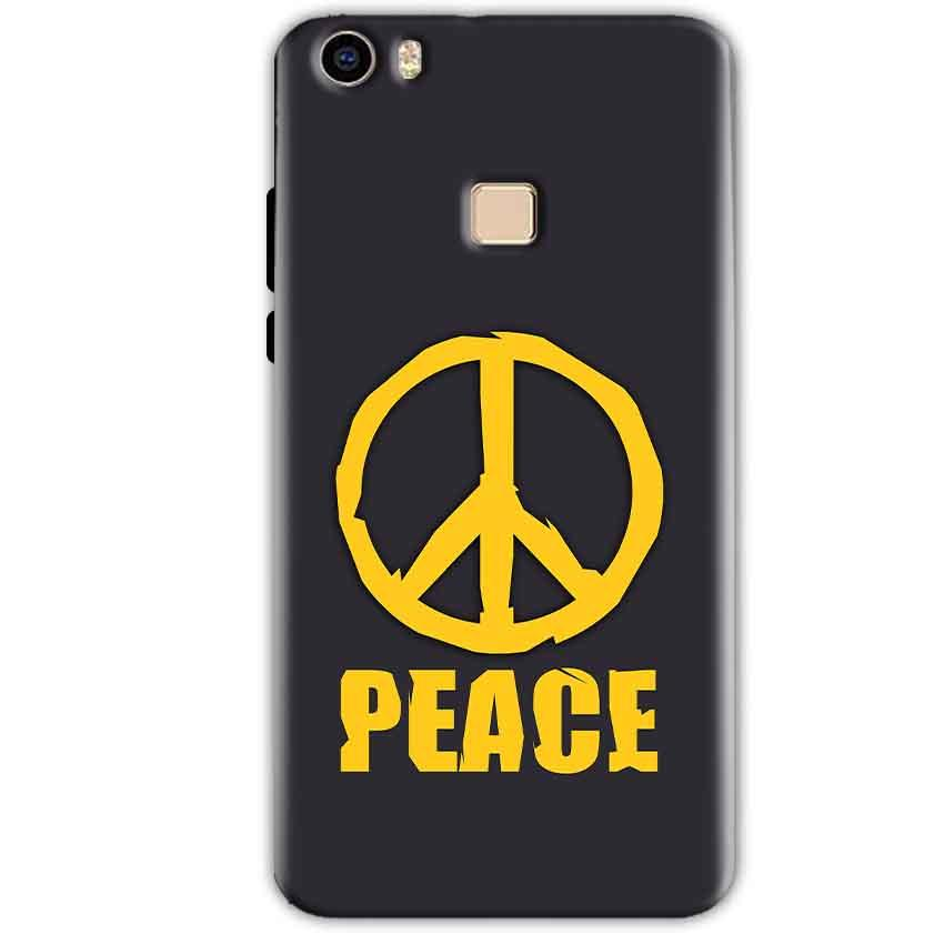 Vivo V3 Mobile Covers Cases Peace Blue Yellow - Lowest Price - Paybydaddy.com