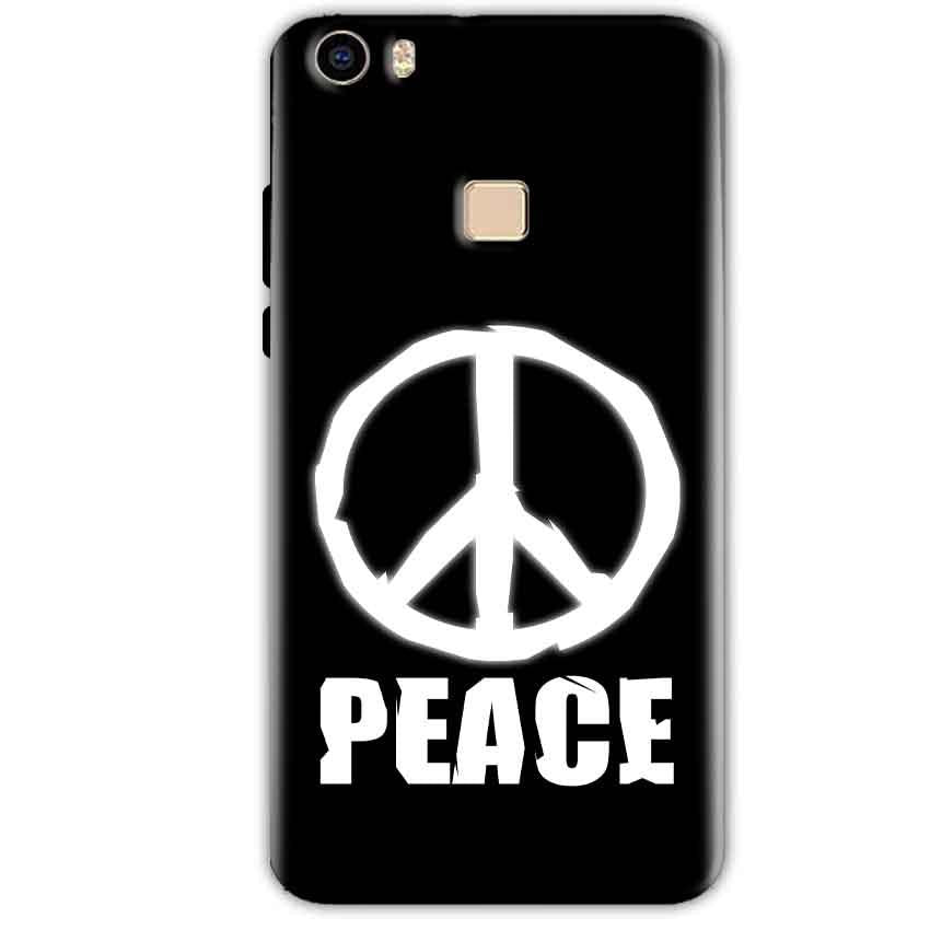 Vivo V3 Mobile Covers Cases Peace Sign In White - Lowest Price - Paybydaddy.com