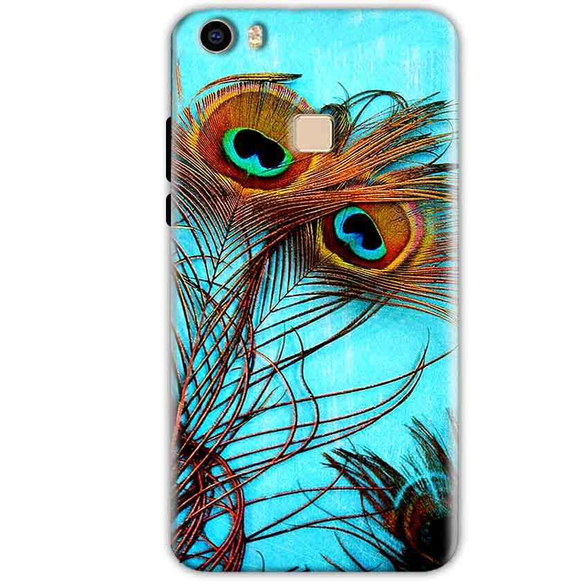 Vivo V3 Mobile Covers Cases Peacock blue wings - Lowest Price - Paybydaddy.com