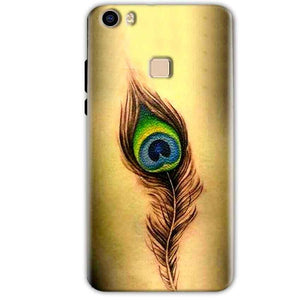 Vivo V3 Mobile Covers Cases Peacock coloured art - Lowest Price - Paybydaddy.com