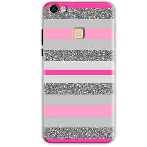 Vivo V3 Mobile Covers Cases Pink colour pattern - Lowest Price - Paybydaddy.com