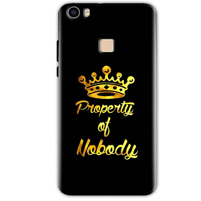 Vivo V3 Mobile Covers Cases Property of nobody with Crown - Lowest Price - Paybydaddy.com