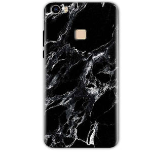 Vivo V3 Mobile Covers Cases Pure Black Marble Texture - Lowest Price - Paybydaddy.com
