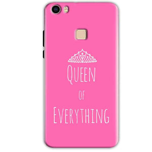 Vivo V3 Mobile Covers Cases Queen Of Everything Pink White - Lowest Price - Paybydaddy.com
