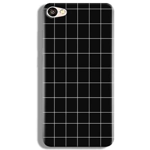 Vivo V5 Mobile Covers Cases Black with White Checks - Lowest Price - Paybydaddy.com