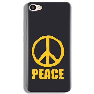 Vivo V5 Mobile Covers Cases Peace Blue Yellow - Lowest Price - Paybydaddy.com