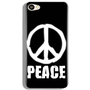 Vivo V5 Mobile Covers Cases Peace Sign In White - Lowest Price - Paybydaddy.com