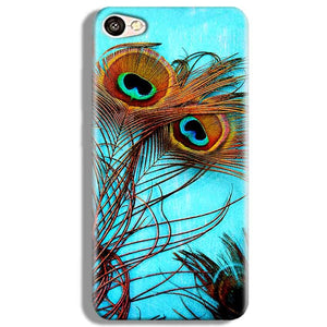 Vivo V5 Mobile Covers Cases Peacock blue wings - Lowest Price - Paybydaddy.com