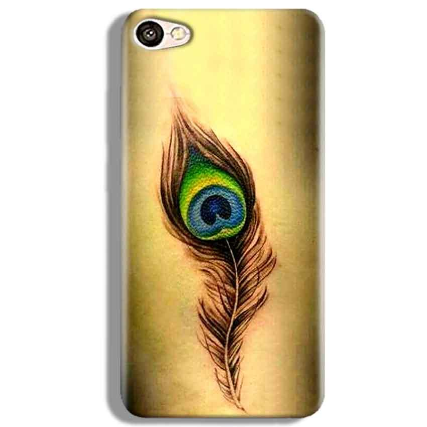 Vivo V5 Mobile Covers Cases Peacock coloured art - Lowest Price - Paybydaddy.com