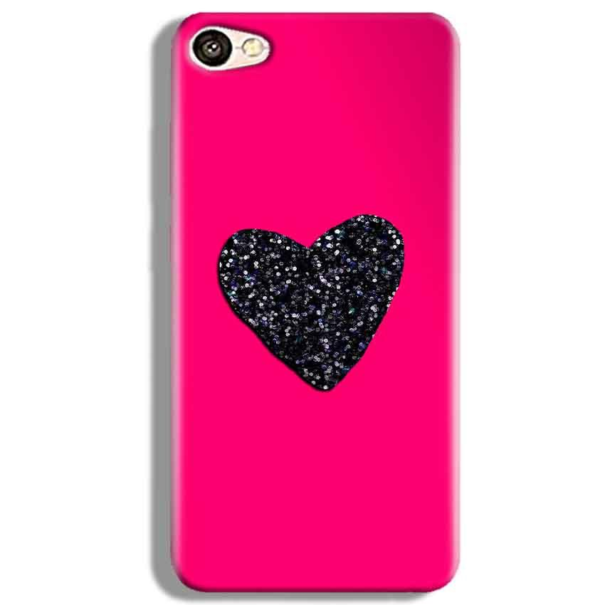 Vivo V5 Mobile Covers Cases Pink Glitter Heart - Lowest Price - Paybydaddy.com