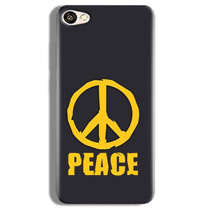 Vivo V5 Plus Mobile Covers Cases Peace Blue Yellow - Lowest Price - Paybydaddy.com