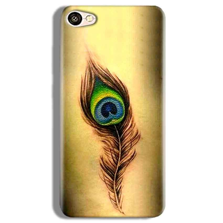 Vivo V5 Plus Mobile Covers Cases Peacock coloured art - Lowest Price - Paybydaddy.com