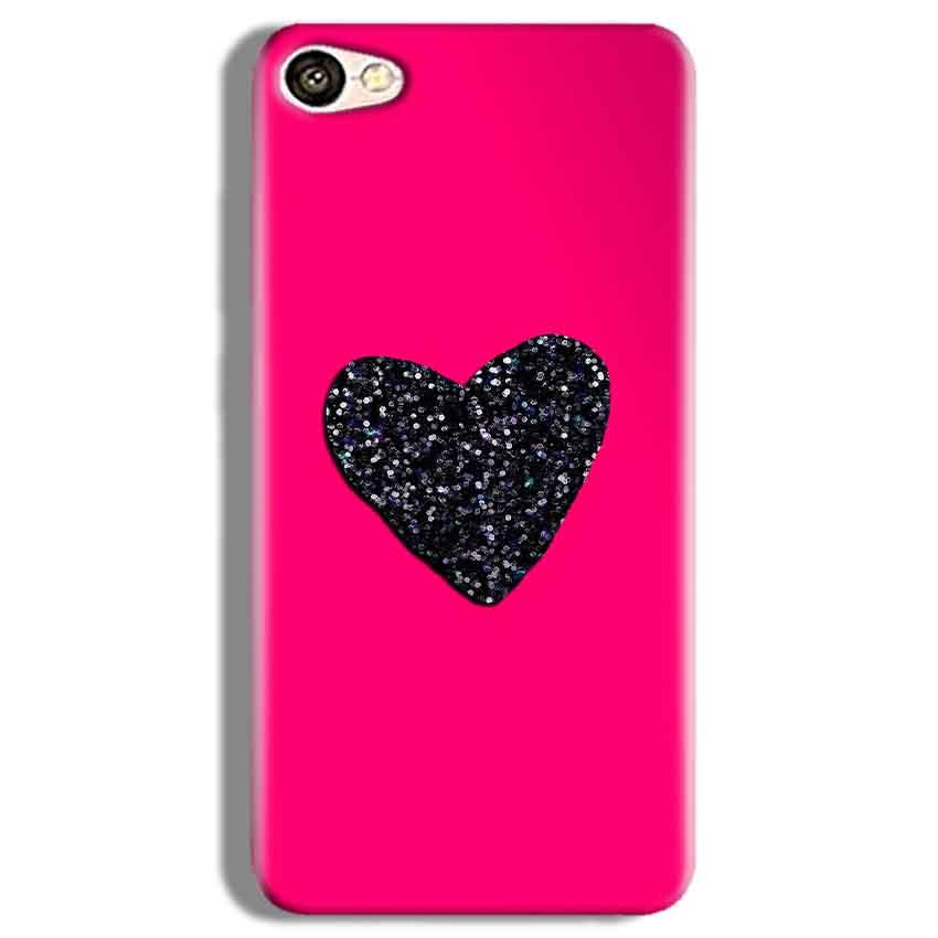 Vivo V5 Plus Mobile Covers Cases Pink Glitter Heart - Lowest Price - Paybydaddy.com