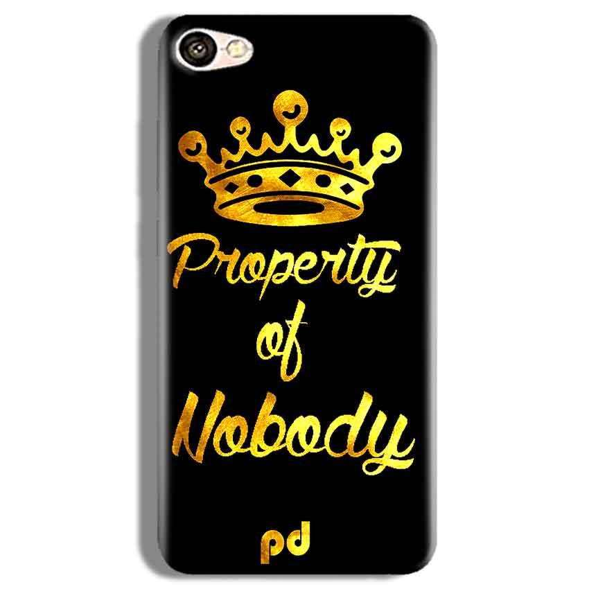 Vivo V5 Plus Mobile Covers Cases Property of nobody with Crown - Lowest Price - Paybydaddy.com