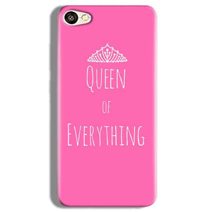 Vivo V5 Plus Mobile Covers Cases Queen Of Everything Pink White - Lowest Price - Paybydaddy.com