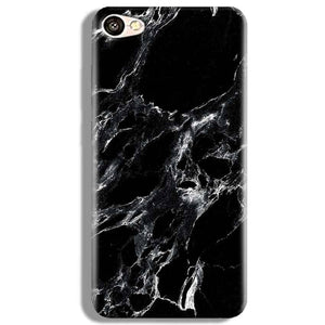 Vivo V5 Mobile Covers Cases Pure Black Marble Texture - Lowest Price - Paybydaddy.com