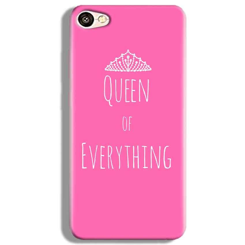 Vivo V5 Mobile Covers Cases Queen Of Everything Pink White - Lowest Price - Paybydaddy.com