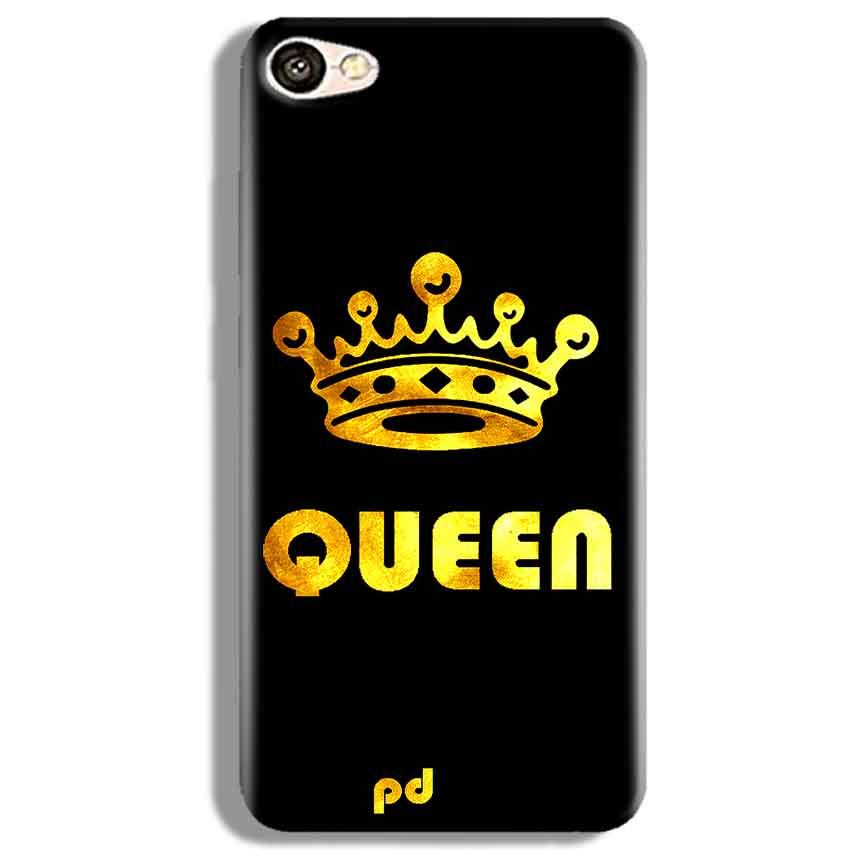 Vivo V5 Mobile Covers Cases Queen With Crown in gold - Lowest Price - Paybydaddy.com