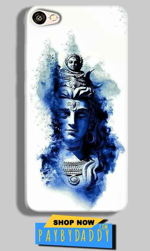 Vivo V5 Mobile Covers Cases Shiva Blue White - Lowest Price - Paybydaddy.com