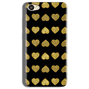 Vivo V5s Golden Little Mobile Covers Cases Hearts- Lowest Price - Paybydaddy.com