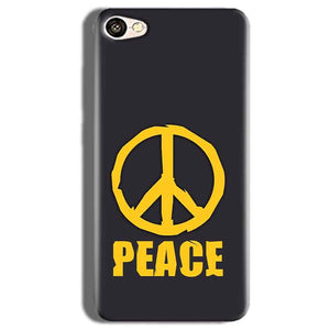 Vivo V5s Mobile Covers Cases Peace Blue Yellow - Lowest Price - Paybydaddy.com