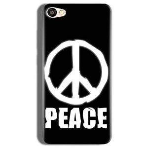 Vivo V5s Mobile Covers Cases Peace Sign In White - Lowest Price - Paybydaddy.com
