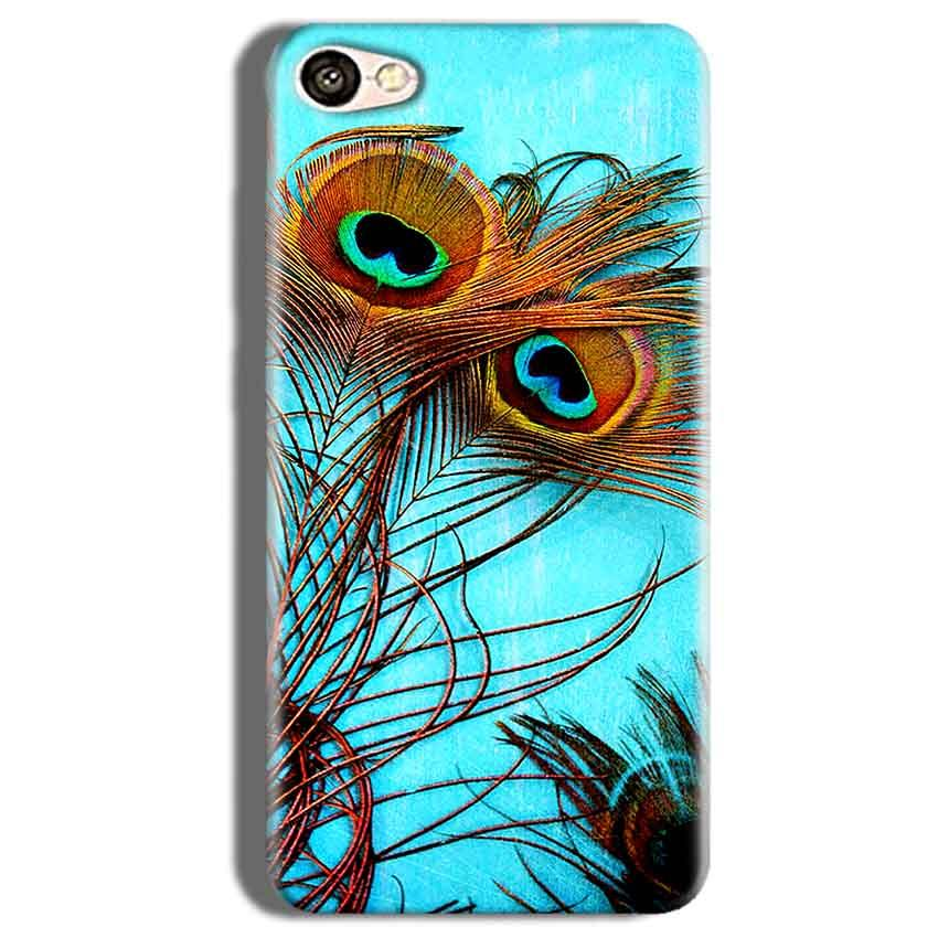 Vivo V5s Mobile Covers Cases Peacock blue wings - Lowest Price - Paybydaddy.com