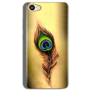 Vivo V5s Mobile Covers Cases Peacock coloured art - Lowest Price - Paybydaddy.com